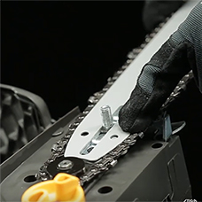 Замена пильной цепи в электропилах Stiga